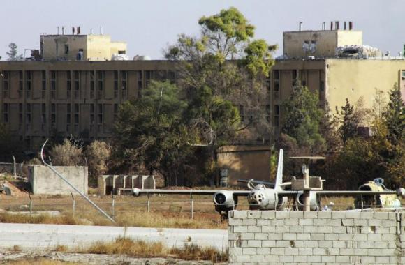A general view of Aleppo International Airport in Aleppo