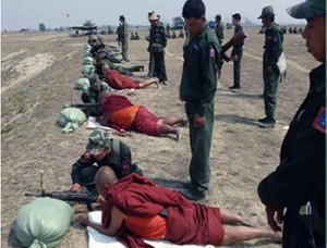 monk military training in Shan