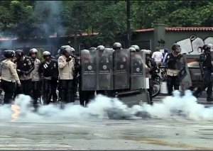 Venezuela opposition clash with police