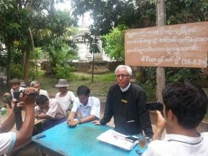 သတင္းစာရွင္းလင္းပြဲျပဳလုပ္စဥ္ (Photo - Thein Aung Myint)