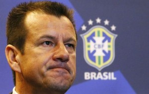 Brazil's new manager Dunga listens to a question during a news conference in Rio de Janeiro