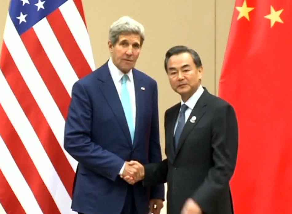 US and China Foreign Minister Meet NayPyiTaw 09082014