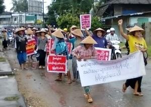 Dawei Farmer Protest