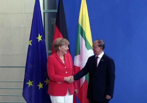 U Thein Sein at Germany