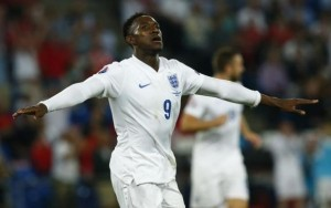 England's Welbeck celebrates his second goal against Switzerland during their Euro 2016 qualifying soccer match in Basel