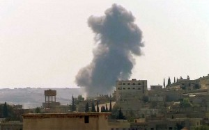 Explosions in Syrian village