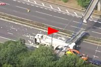 Bridge Collapses Onto Lorry On M20 Motorway in Kent