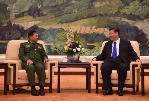 Senior General Min Aung Hlaing meet with China president01-CINCDS