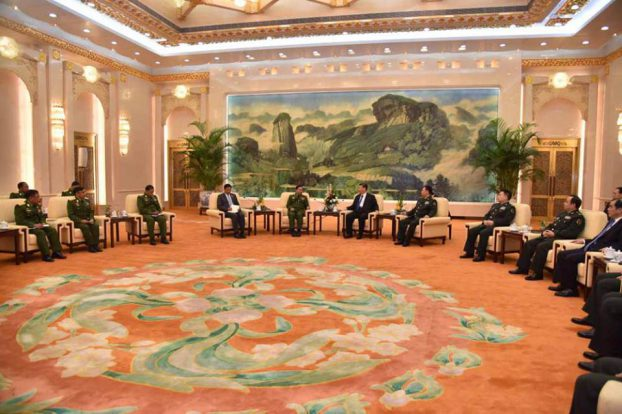 Senior General Min Aung Hlaing meet with China president02-CINCDS