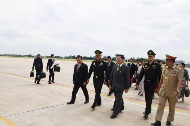 Senior General Min Aung Hlaing arrive at Thai 2