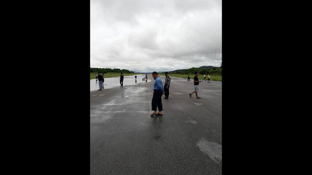 TarChiLeik airport closing because water float 1