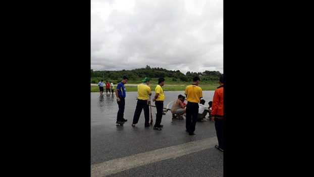TarChiLeik airport closing because water float 3