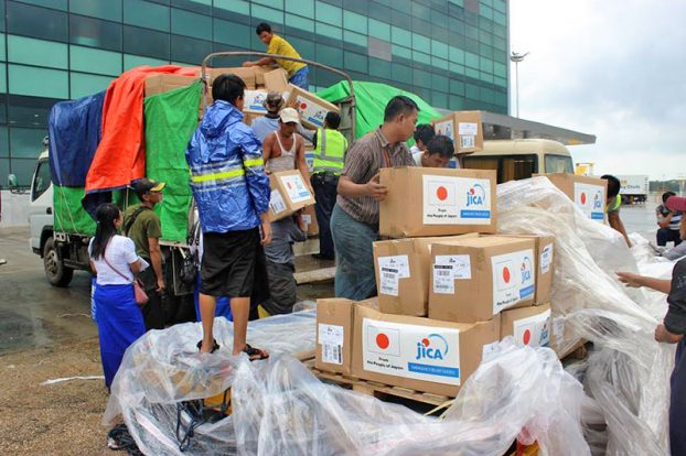 Relief tools Arrived at myanmar from Jica 2