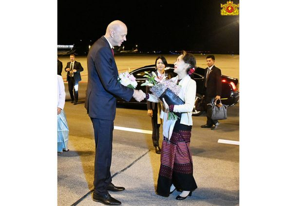 Daw Aung San Suu Kyi arrived Prague03-State Counsellor Office
