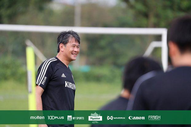 Japan Myanmar Football training 3